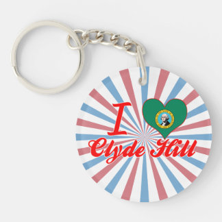 I Love Clyde Hill, Washington Key Chains