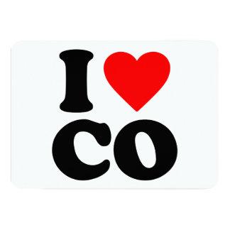 I LOVE CO 13 CM X 18 CM INVITATION CARD