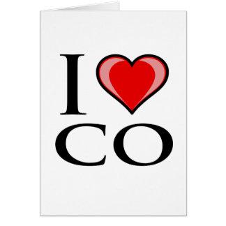I Love CO - Colorado Greeting Card