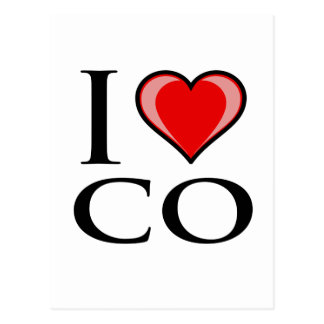 I Love CO - Colorado Postcard
