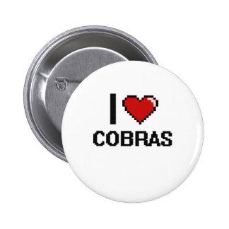 I love Cobras Digital Design 2 Inch Round Button
