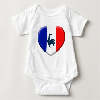 I love cock France flag Baby Bodysuit