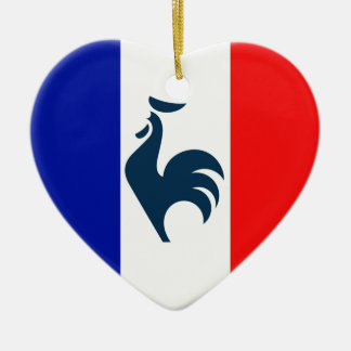 I love cock France flag Christmas Ornament