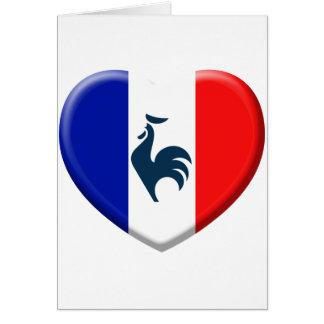 I love cock France flag Greeting Card