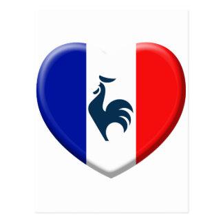 I love cock France flag Postcard