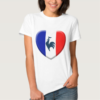 I love cock France flag Shirts