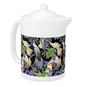 I Love Cockatiel Parrots Medium Teapot