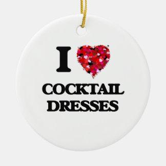 I love Cocktail Dresses Round Ceramic Decoration