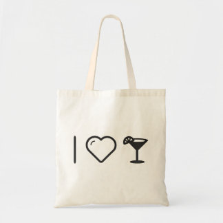 I Love Cocktail Recipes Budget Tote Bag