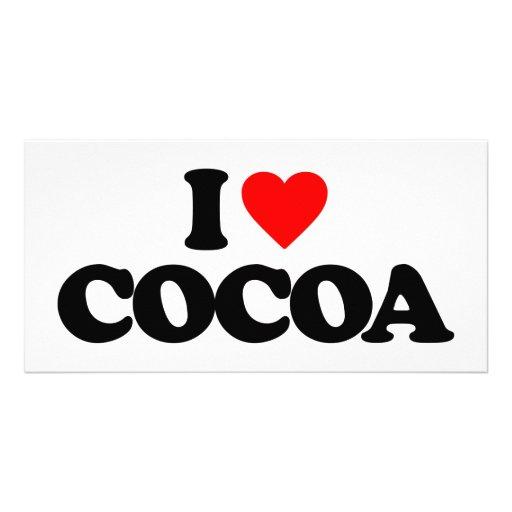 I LOVE COCOA PERSONALIZED PHOTO CARD