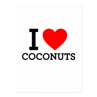 I Love Coconuts Postcards
