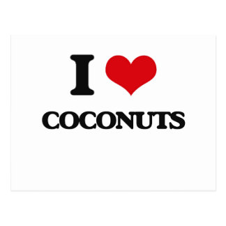 I love Coconuts Postcards