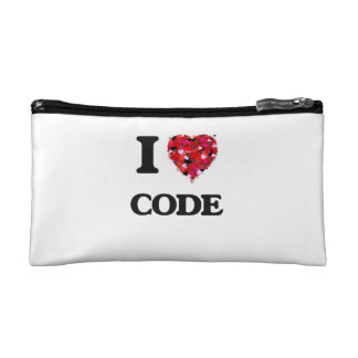 I love Code Cosmetic Bag