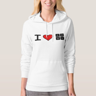 I Love Code Hooded Pullover