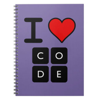 I Love Code Spiral Notebook