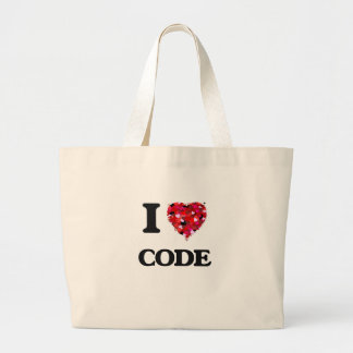 I love Code Jumbo Tote Bag