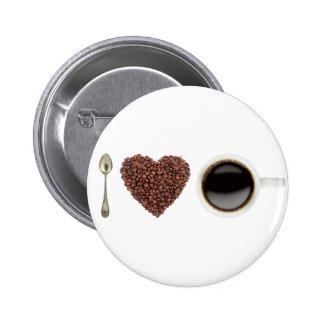 I Love Coffee 01 6 Cm Round Badge