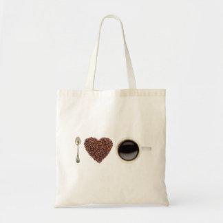 I Love Coffee 01 Budget Tote Bag