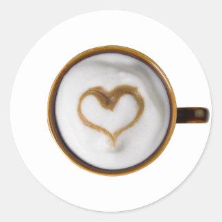 I Love Coffee 03 Round Sticker