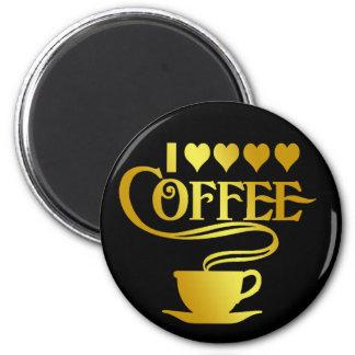 I LOVE COFFEE 6 CM ROUND MAGNET