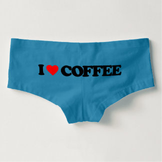 I LOVE COFFEE BOYSHORTS