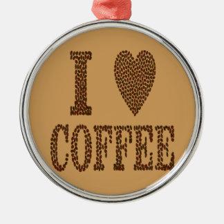 I Love Coffee Christmas Ornament