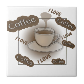I Love Coffee Cup Tile