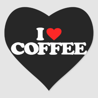 I LOVE COFFEE HEART STICKER