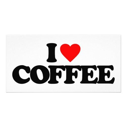 I LOVE COFFEE CUSTOMIZED PHOTO CARD