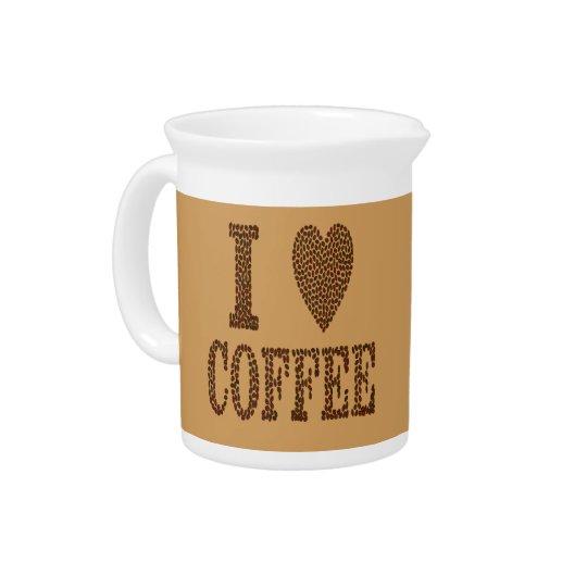 I Love Coffee Pitcher
