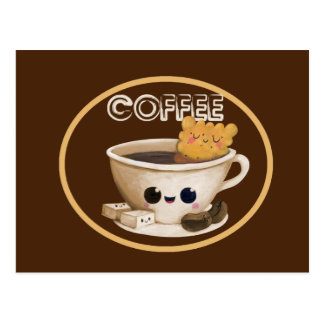 I love Coffee Postcard