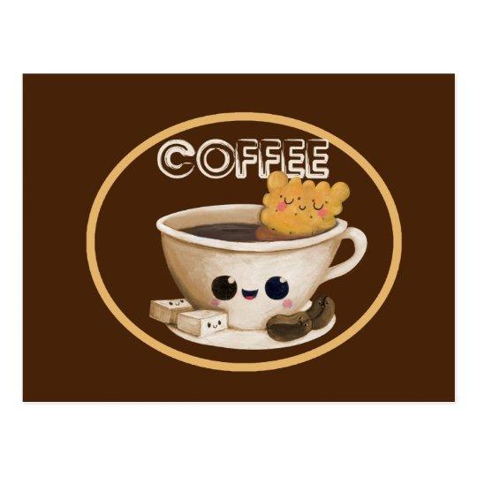I love Coffee Postcard