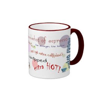 I love coffee ringer coffee mug