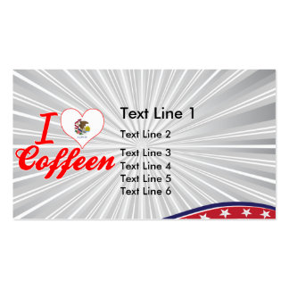 I Love Coffeen, Illinois Business Card Template