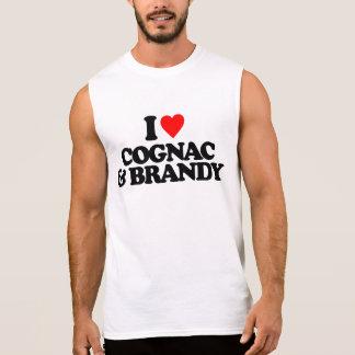 I LOVE COGNAC & BRANDY SLEEVELESS T-SHIRTS