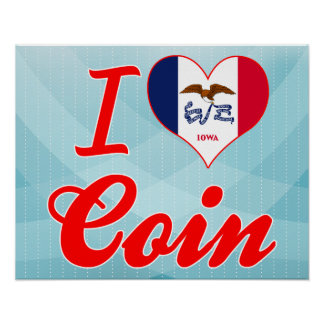 I Love Coin, Iowa Print