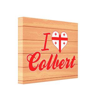 I Love Colbert, Georgia Stretched Canvas Print
