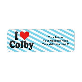 I Love Colby Return Address Label
