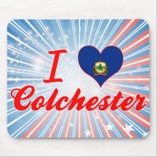 I Love Colchester, Vermont Mousepads