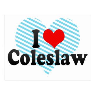 I Love Coleslaw Postcard