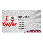 I Love Colfax, California Business Card Template