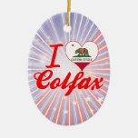 I Love Colfax, California Christmas Ornaments