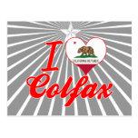 I Love Colfax, California Postcards