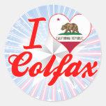 I Love Colfax, California Round Sticker