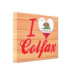 I Love Colfax, California Stretched Canvas Prints