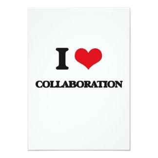 I love Collaboration 13 Cm X 18 Cm Invitation Card