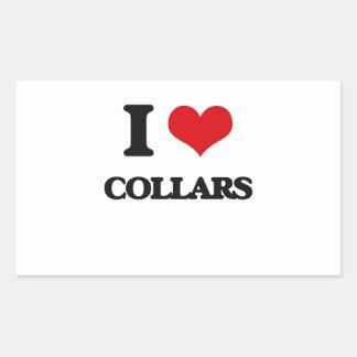 I love Collars Rectangular Stickers