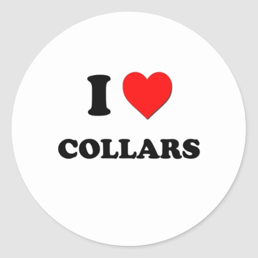 I love Collars Sticker