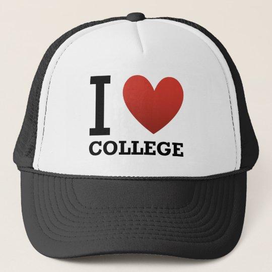 I Love College Cap