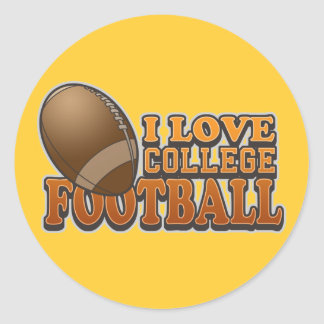 I Love College Football Stickers
